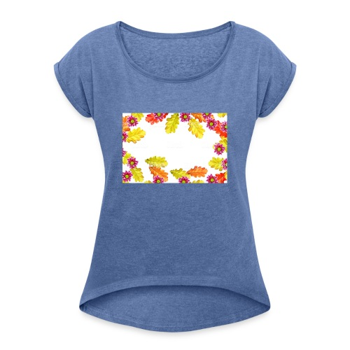 pp - Koszulka damska z lekko podwiniętymi rękawami