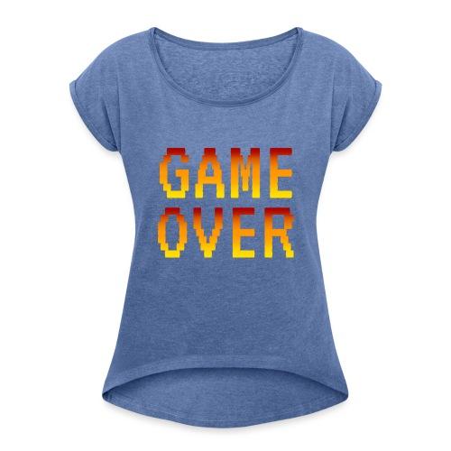 Game Over - Maglietta da donna con risvolti