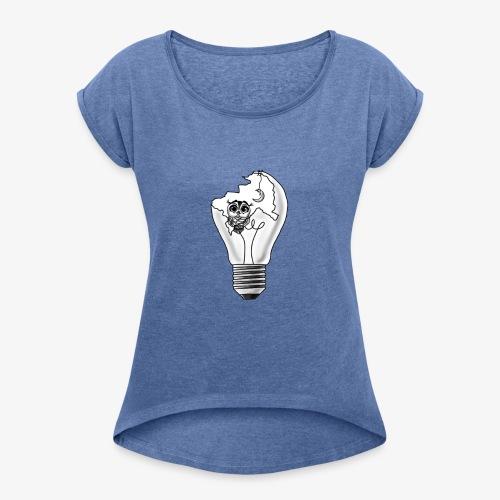 Chouette au Clair de Lune - T-shirt à manches retroussées Femme