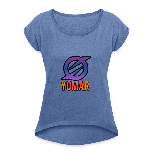 YOMAR - Women's T-Shirt with rolled up sleeves