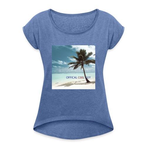 C00L GUY Merch - Vrouwen T-shirt met opgerolde mouwen
