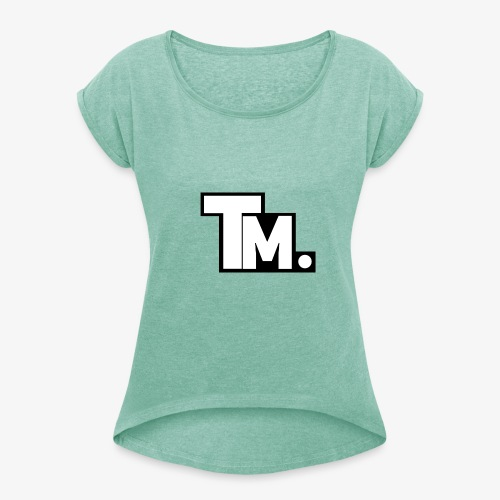 TM - TatyMaty Clothing - Women's T-Shirt with rolled up sleeves