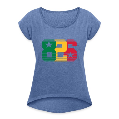 826 Jamaica - Camiseta con manga enrollada mujer