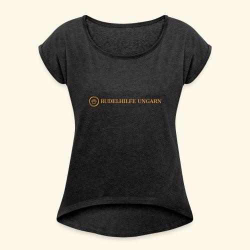 Rudelhilfe Logo - Frauen T-Shirt mit gerollten Ärmeln