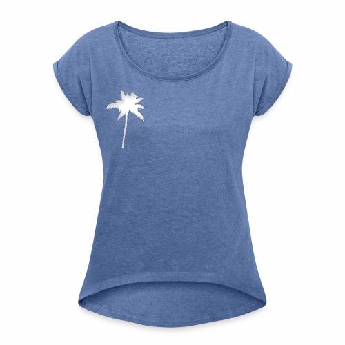 Plamera - Camiseta con manga enrollada mujer