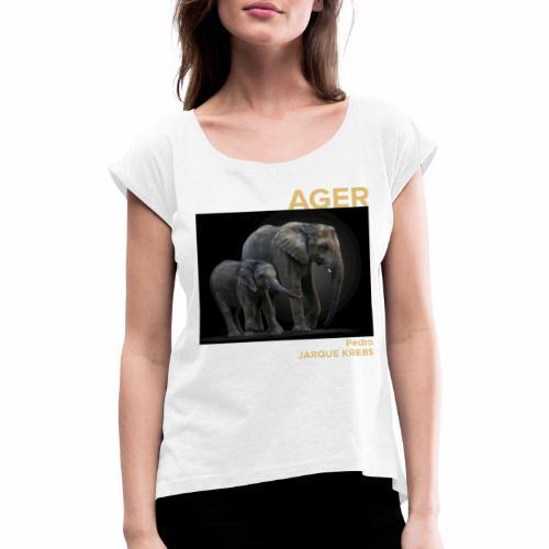 1 Achat = 1 Don à l'association Rainfer - T-shirt à manches retroussées Femme