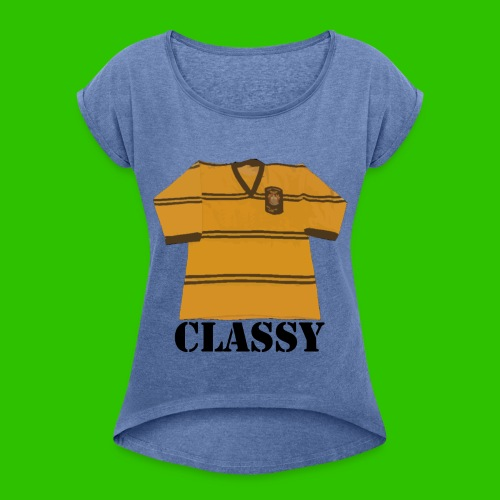 Classy Cas - Women's T-Shirt with rolled up sleeves
