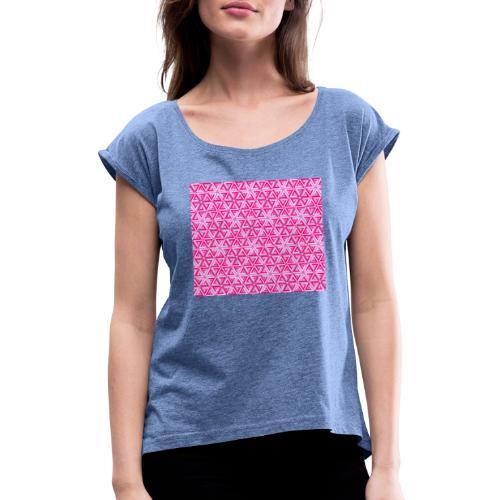 impossible pink - T-shirt à manches retroussées Femme
