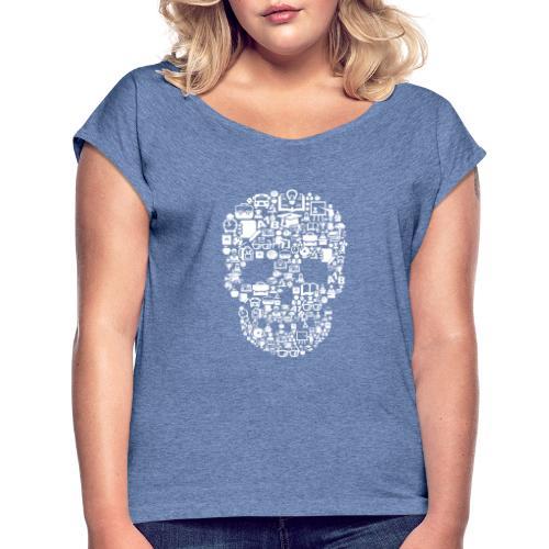 Go to School - Frauen T-Shirt mit gerollten Ärmeln