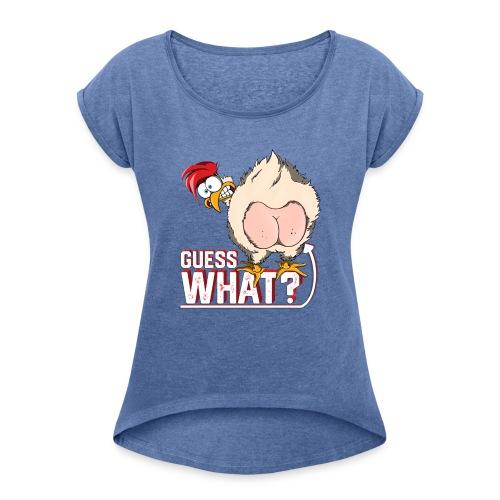 GuessWhat Chicken Butt | Chicken Lover Farm - Maglietta da donna con risvolti