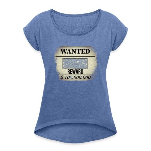 wanted - T-shirt à manches retroussées Femme
