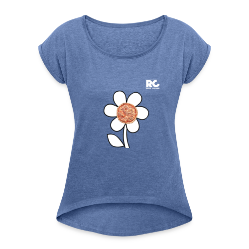 Pizzaflower Edition - Frauen T-Shirt mit gerollten Ärmeln