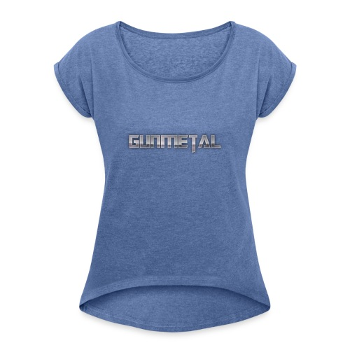 Gunmetal - Women's T-Shirt with rolled up sleeves