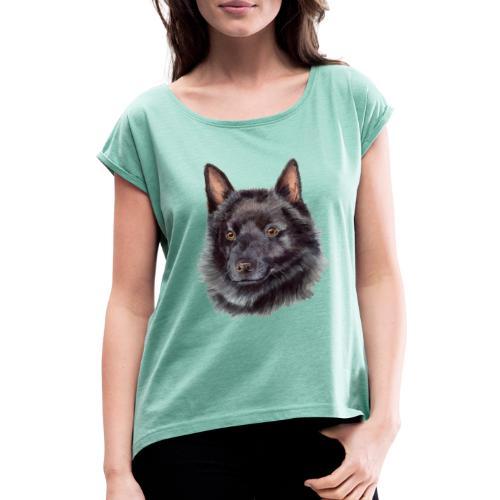 schipperke - akv - Dame T-shirt med rulleærmer