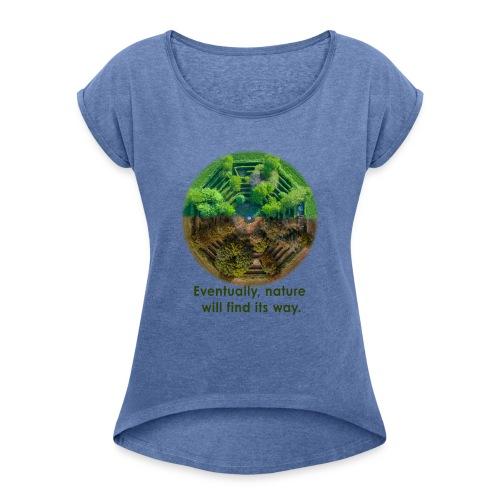 Our Future - Frauen T-Shirt mit gerollten Ärmeln
