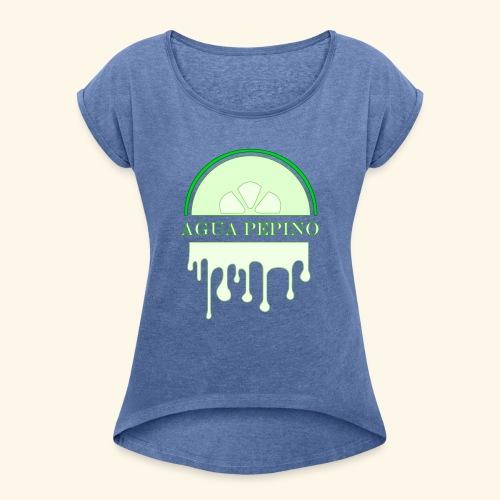 Agua Pepino (Gurkvatten) - T-shirt med upprullade ärmar dam