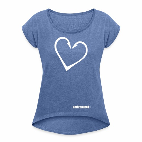HorizonHook - Women's T-Shirt with rolled up sleeves