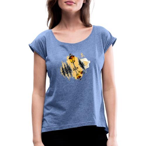 Ride Tek orange - T-shirt à manches retroussées Femme