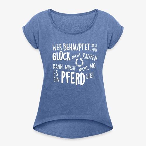 Vorschau: behauptet - Frauen T-Shirt mit gerollten Ärmeln