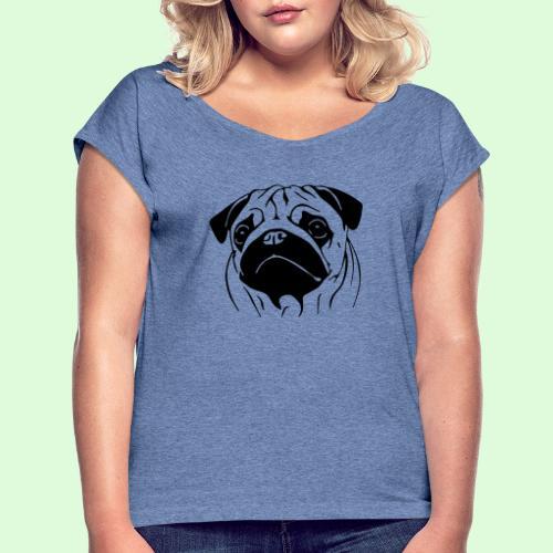 Carlin - T-shirt à manches retroussées Femme