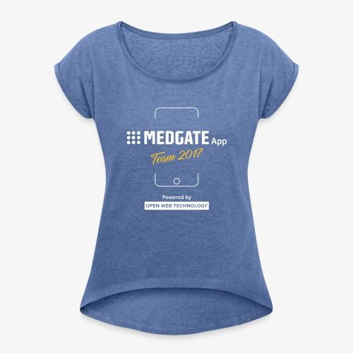 Medgate App Team 2017 Dark - Frauen T-Shirt mit gerollten Ärmeln