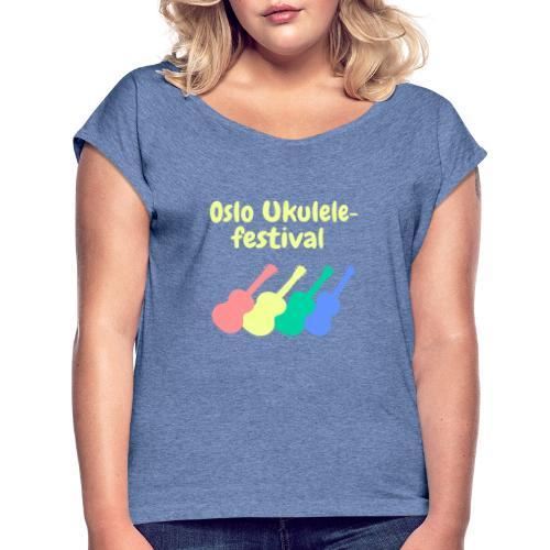Fire ukuleler - T-skjorte med rulleermer for kvinner