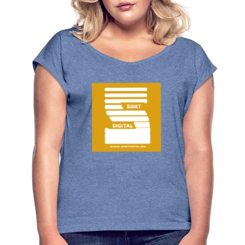 SINET DIGITAL - T-shirt à manches retroussées Femme