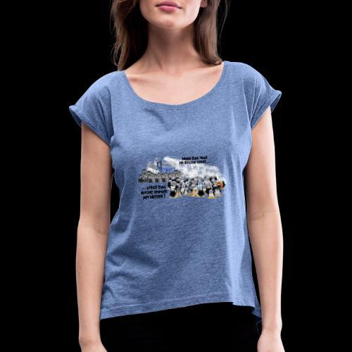 tux demo - Frauen T-Shirt mit gerollten Ärmeln