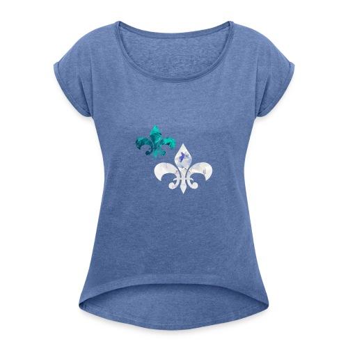 Elegant - Frauen T-Shirt mit gerollten Ärmeln