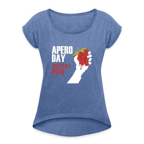 apero domaine dupraz - T-shirt à manches retroussées Femme