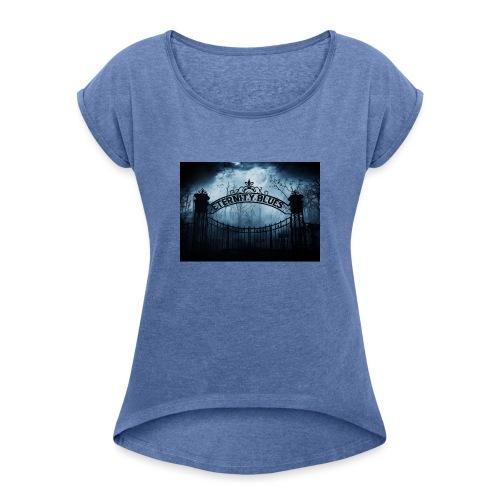 Eternity Blues - Maglietta da donna con risvolti