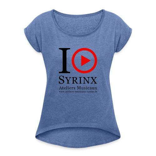 Logo IPSyrinx White Line - T-shirt à manches retroussées Femme
