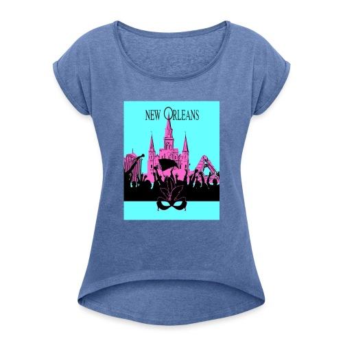 New Orleans - Camiseta con manga enrollada mujer