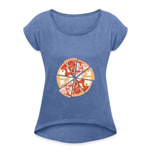 La pizza - Maglietta da donna con risvolti