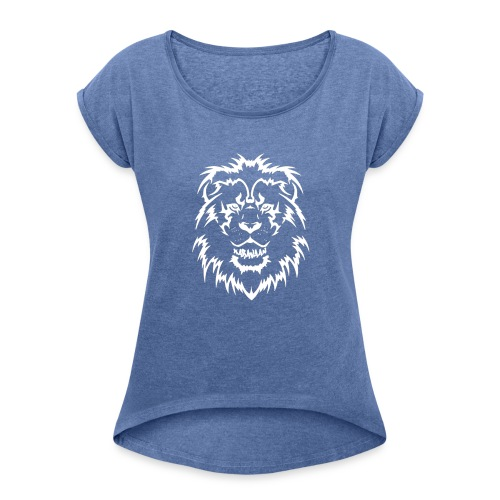Karavaan LION - Vrouwen T-shirt met opgerolde mouwen