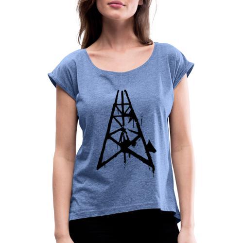 construction time again - T-shirt à manches retroussées Femme