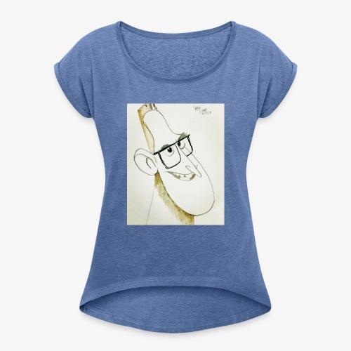 Disegno personaggio - Maglietta da donna con risvolti