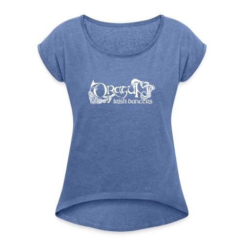 dragunlogo - Naisten T-paita, jossa rullatut hihat
