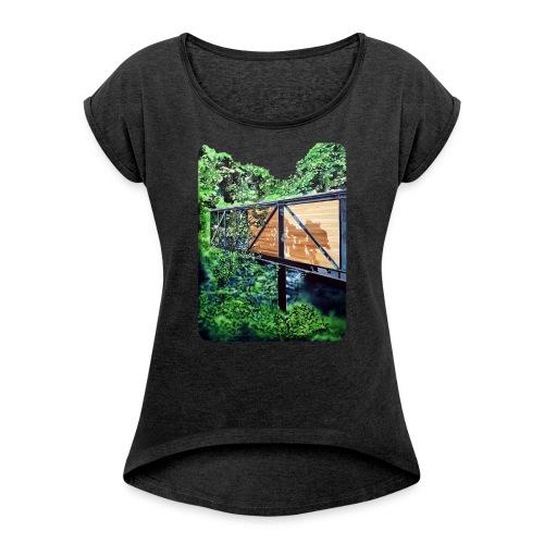 by Eamon O'Kane - Dame T-shirt med rulleærmer