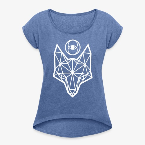Justapup - Women's T-Shirt with rolled up sleeves