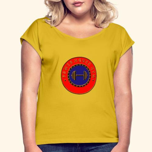 logo de la centrale électrique - T-shirt à manches retroussées Femme