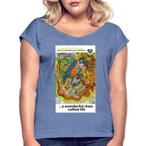 Wonderful chaos - Camiseta con manga enrollada mujer