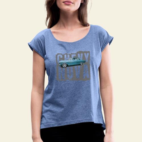 nova - Dame T-shirt med rulleærmer