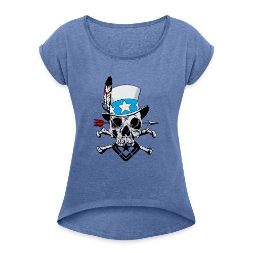 USam - Koszulka damska z lekko podwiniętymi rękawami