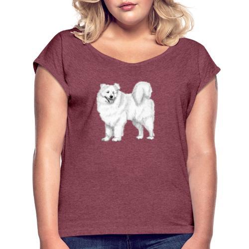 samoyed - Dame T-shirt med rulleærmer
