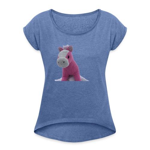 haukkari - Naisten T-paita, jossa rullatut hihat