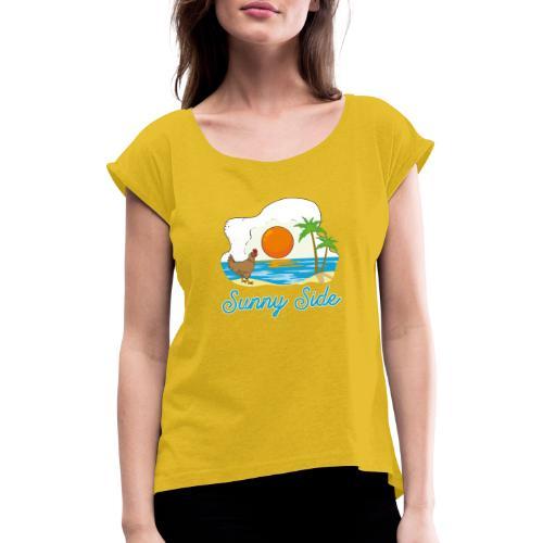 Sunny side - Maglietta da donna con risvolti
