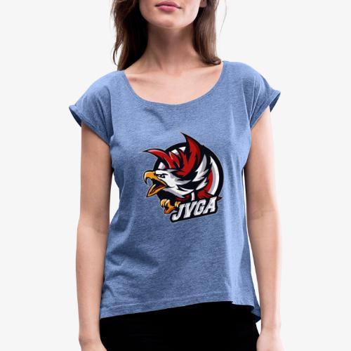 Adler Design - Frauen T-Shirt mit gerollten Ärmeln