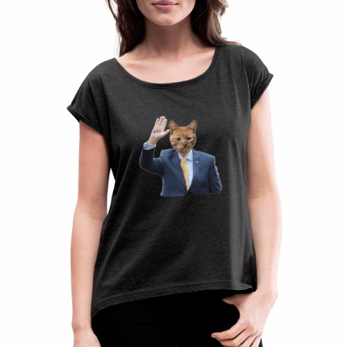 RTE Ginger cat - Women's T-Shirt with rolled up sleeves