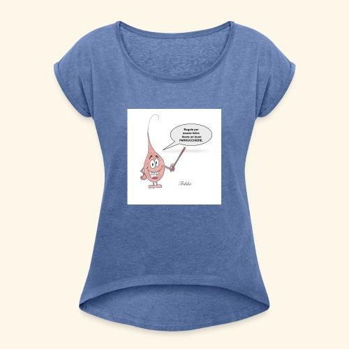 Trikho per essere felici - Maglietta da donna con risvolti
